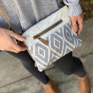 Handbags - Hair on Leather Printed Cross Body